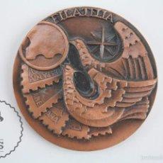 Trofeos y medallas: MEDALLA DEL CÍRCULO FILATÉLICO DE STA. COLOMA GRAMENET. XIII EXPOSICIÓN FILATÉLICA, 1974. Lote 61321299