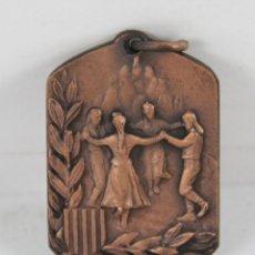 Trofeos y medallas: M-298. MEDALLA EN BRONCE TROFEU SARDANES SANT JORDI 1978. GENERALITAT DE CATALUNYA. Lote 44302952