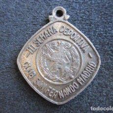 Trofeos y medallas: MEDALLA OJE. III SEMANA DEPORTIVA CLUB SAN FERNANDO MADRID. . Lote 67104033