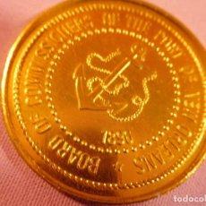 Trofeos y medallas: MEDALLA EMITIDA EN RECUERDO DE LA JUNTA DEL PUERTO DE NUEVA ORLEANS EN 1977. Lote 69423357