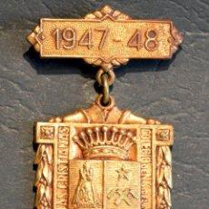 Trofeos y medallas: ANTIGUA MEDALLA AL MERITO ESCOLAR BARCELONA 1947 - 1948 COLEGIO NUESTRA SEÑORA DE LA BONANOVA. Lote 71065741
