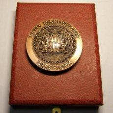 Trofeos y medallas: MEDALLA GREMI D'ANTIQUARIS DE BARCELONA, AÑO 1989. ACUÑADA POR PUJOL. SANT PERE DE RODA.. Lote 71129357