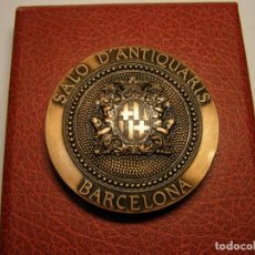 Trofeos y medallas: MEDALLA GREMI D'ANTIQUARIS DE BARCELONA, AÑO 1989. ACUÑADA POR PUJOL. MONESTIR DE POBLET.. Lote 71129569