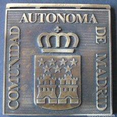 Trofeos y medallas: MEDALLA PLACA - COMUNIDAD AUTÓNOMA DE MADRID. Lote 71182661