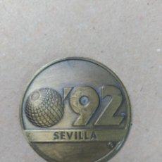 Trofeos y medallas: MEDALLA EN BRONCE SEVILLA 92, LA CARTUJA. Lote 71492307