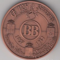 Trofeos y medallas: MEDALLA: 1982 DIRECCION REGIONAL DE LEVANTE - 125 ANIVERSARIO BANCO DE BILBAO. Lote 73483039