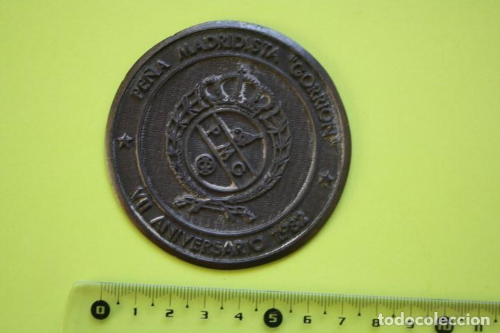 MEDALLA PEÑA MADRIDISTA EL GORRION, VII ANIVERSARIO 1982 (Numismática - Medallería - Trofeos y Conmemorativas)