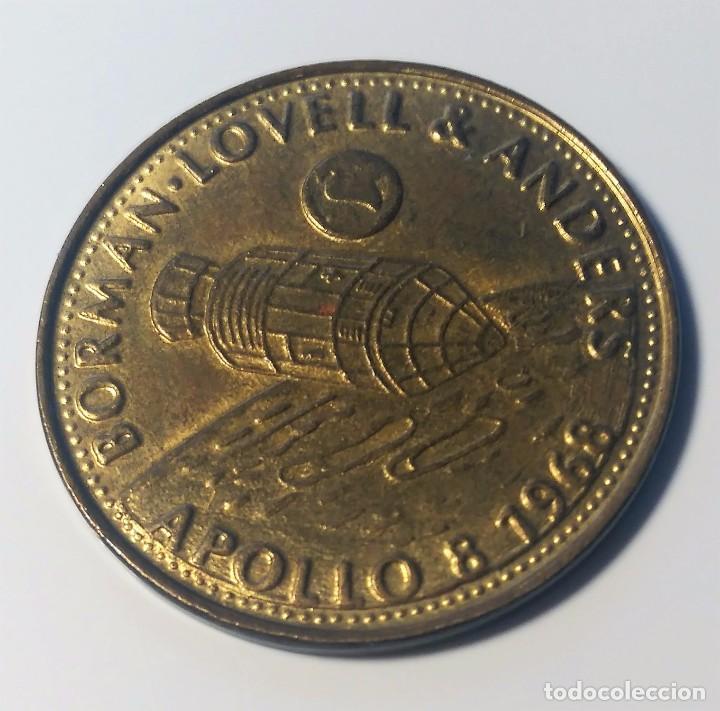 MONEDA CONMEMORATIVA MISION APOLO 8 1968 - NASA - BORMAN - LOVELL Y ANDERS --- SHELL (Numismática - Medallería - Trofeos y Conmemorativas)