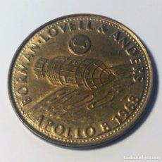 Trofeos y medallas: MONEDA CONMEMORATIVA MISION APOLO 8 1968 - NASA - BORMAN - LOVELL Y ANDERS --- SHELL. Lote 145245036