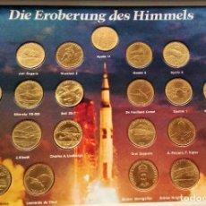 Trofeos y medallas: COLECCION DE 20 MONEDA LA CONQUISTA DEL CIELO - SHELL - NASA. Lote 75102835