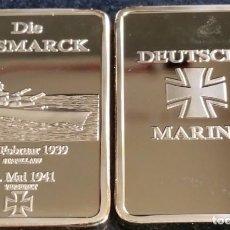 Trofeos y medallas: LINGOTE ORO CONMEMORATIVA DE LA CRUZ DE LA MARINA ALEMANA DIE BISMARK 1939. Lote 75200479