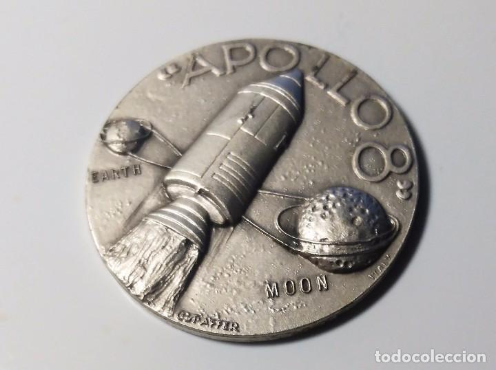 MONEDA O MEDALLA CONMEMORATIVA MISION APOLO 8 - 21 AL 27 DICIEMBRE 1968 - NASA (Numismática - Medallería - Trofeos y Conmemorativas)