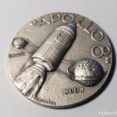 Trofeos y medallas: MONEDA O MEDALLA CONMEMORATIVA MISION APOLO 8 - 21 AL 27 DICIEMBRE 1968 - NASA. Lote 75255467