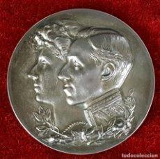 Trofeos y medallas: MEDALLA EN PLATA. ALFONSO XIII Y VICTORIA EUGENIA. ANDUIZA S.A. 1908.. Lote 75668735