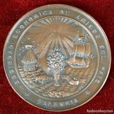 Trofeos y medallas: MEDALLA EN BRONCE. EXPOSICION REGIONAL DE ARTISTAS VALENCIANOS. PABLO VIDAL. 1949.. Lote 75678375