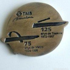 Trofeos y medallas: MEDALLA CONMEMORATIVA TRANSPORTES METROPOLITANOS DE BARCELONA.. Lote 78150157