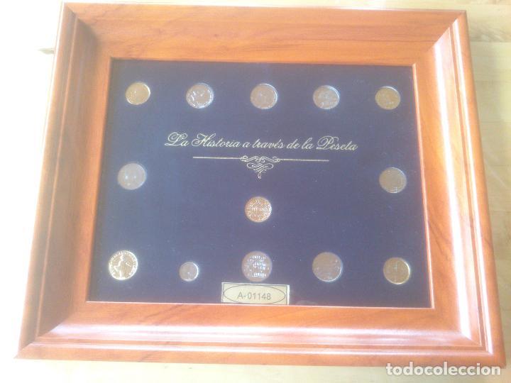 COLECCION MONEDAS HISTORIA A TRAVES DE LA PESETA LIMITADA YNUMERADAS (Numismática - Medallería - Trofeos y Conmemorativas)