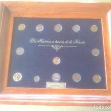 Trofeos y medallas: COLECCION MONEDAS HISTORIA A TRAVES DE LA PESETA LIMITADA YNUMERADAS. Lote 79615893