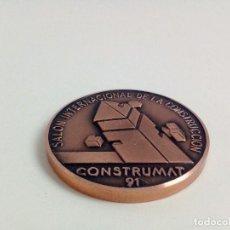 Trofeos y medallas: MEDALLA DE COBRE. CONSTRUMAT 1991. BARCELONA. Lote 79813213