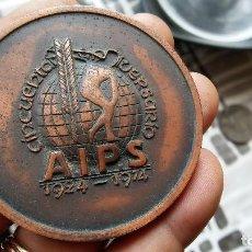 Trofeos y medallas: MEDALLA AIPS. Lote 209567891
