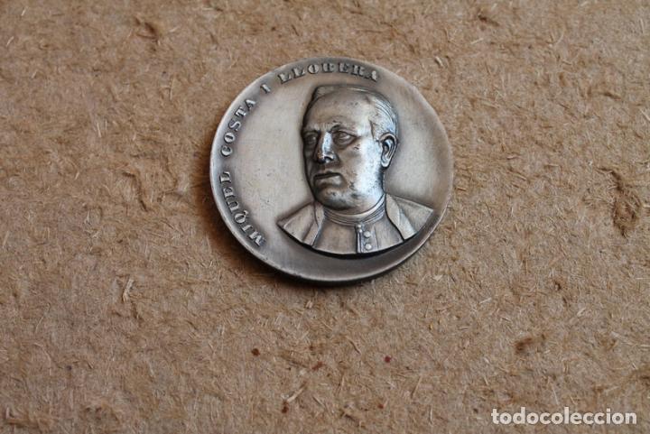 MEDALLA MIQUEL COSTA I LLOBERA. MESTRE EN GAISABER. POETA. CINQUANTENARI DE LA SEVA MORT. POLLENÇA (Numismática - Medallería - Trofeos y Conmemorativas)