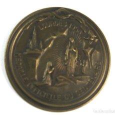 Trofeos y medallas: M-607. MEDALLA OFICIAL DEL CENTENARIO APARICION VIRGEN EN LOURDES. 1958.. Lote 83444644