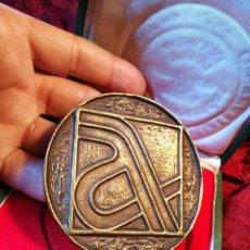 Trofeos y medallas: MEDALLA BRONCE CONMEMORATIVA INAGURACION TRAMO BARCELONA GERONA AUTOPISTA MEDITERRANEO AP-7 1971. Lote 85164168