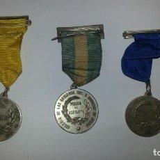 Trofeos y medallas: EXCEPCIONAL LOTE DE 3 MEDALLAS DE PREIMOS DEL COLEGIO DE LAS ESCLAVAS DEL SAGRADO CORAZON DE JESUS. . Lote 85889168