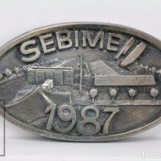 Trofeos y medallas: MEDALLA / PLACA OVALADA - SEBIME 1987 - FERIA INTERNACIONAL BISUTERÍA FANTASÍA. MAHÓN, MENORCA. Lote 87143872