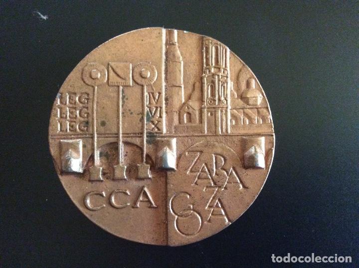 MEDALLA CONMEMORATIVA ZARAGOZA 5,5 CM DE DIÁMETRO. (Numismática - Medallería - Trofeos y Conmemorativas)