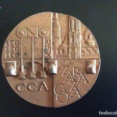 Trofeos y medallas: MEDALLA CONMEMORATIVA ZARAGOZA 5,5 CM DE DIÁMETRO.. Lote 88988500