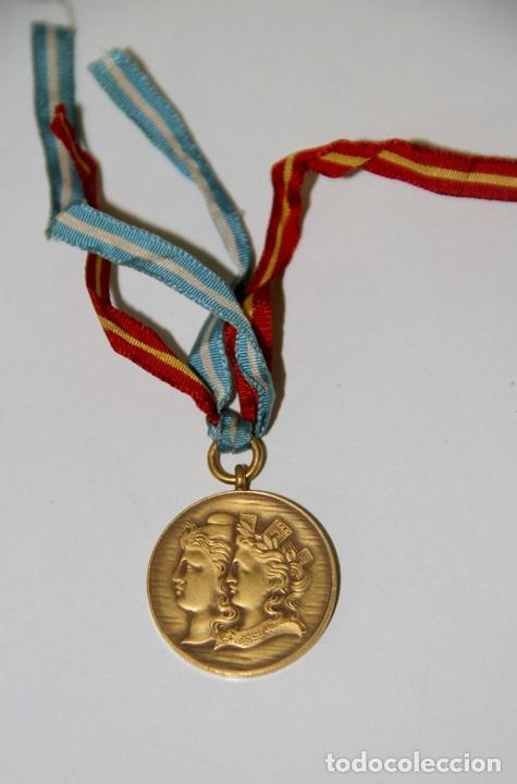 Trofeos y medallas: MEDALLA DE LA MUNICIPALIDAD DE BUENOS AIRES EN HOMENAJE A ESPAÑA. BRONCE. 1900 - Foto 2 - 89828932
