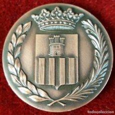 Trofeos y medallas: MEDALLA DE BRONCE. CENTENARIO DE LA LLEGADA DEL FERROCARRIL. VILANOVA I LA GELTRU. 1981.. Lote 92671415