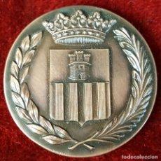 Trofeos y medallas: MEDALLA DE BRONCE. CENTENARIO DE LA LLEGADA DEL FERROCARRIL. VILANOVA I LA GELTRU. 1981.. Lote 92686275