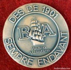 Trofeos y medallas: MEDALLA DE BRONCE. BANCO ATLANTICO. EDIFICIO ATLANTIC. BARCELONA. 1974.. Lote 92773550