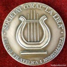 Trofeos y medallas: MEDALLA DE BRONCE. SOCIEDAD CORAL LA LIRA. SANT ANDRES DE PALOMAR. 1978.. Lote 92778695