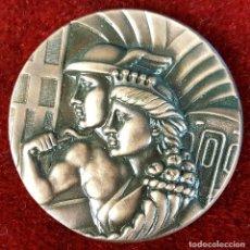 Trofeos y medallas: MEDALLA DE BRONCE. 50 ANIVERSARIO F.C. METROPOLITANO DE BARCELONA. 1924-1974.. Lote 92780420