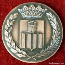Trofeos y medallas: MEDALLA DE BRONCE. CENTENARIO DE LA LLEGADA DEL FERROCARRIL. VILANOVA I LA GELTRU. 1981.. Lote 92782805