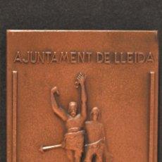 Trofeos y medallas: MEDALLA EN BRONCE LERIDA AJUNTAMENT DE LLEIDA LA PAERIA . Lote 95035471