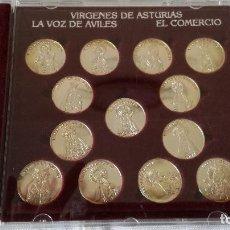 Trofeos y medallas: 6-MEDALLAS ASTURIANAS DE LA VIRGEN, ARRAS ASTURIANAS, EN PLATA DE LEY. Lote 95057695