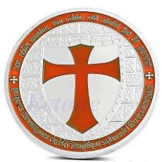 Trofeos y medallas: MONEDA CONMEMORATIVA CABALLEROS TEMPLARIO - CRUZ NARANJA - LEER DESCRIPCION. Lote 95359431