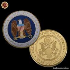 Trofeos y medallas: MONEDA CONMEMORATIVA AGENCIA DE SEGURIDAD NACIONAL DE ESTADOS UNIDOS - ORO - LEER DESCRIPCION. Lote 95360647