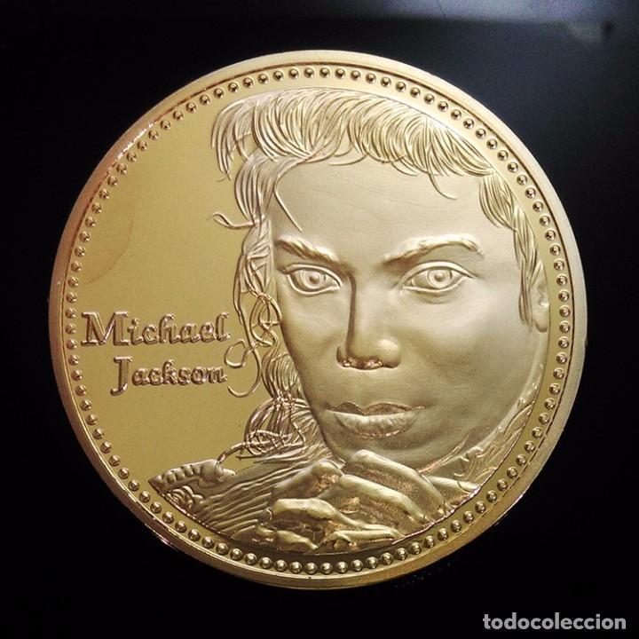 BONITA MONEDA ORO 24KT DE MICHAEL JACKSON CONOCIDO COMO EL REY DEL POP (Numismática - Medallería - Trofeos y Conmemorativas)