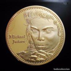 Trofeos y medallas: BONITA MONEDA ORO 24KT DE MICHAEL JACKSON CONOCIDO COMO EL REY DEL POP - VER DESCRIPCION. Lote 95395039
