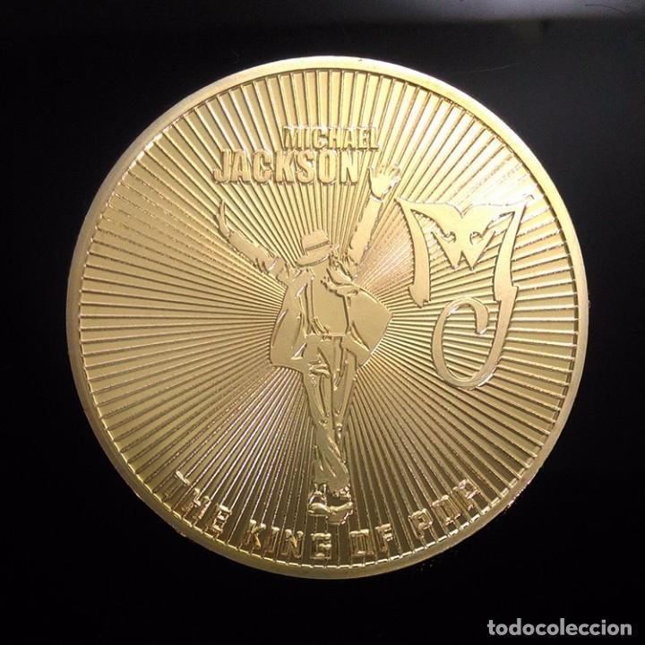 Trofeos y medallas: BONITA MONEDA ORO 24KT DE MICHAEL JACKSON CONOCIDO COMO EL REY DEL POP - Foto 2 - 95395039