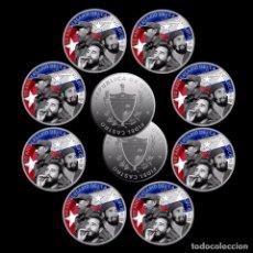 Trofeos y medallas: MONEDA CONMEMORATIVA 90 ANIVERSARIO REVOLUCION REPUBLICA CUBA - FIDEL CASTRO - VER DESCRIPCION. Lote 95395551