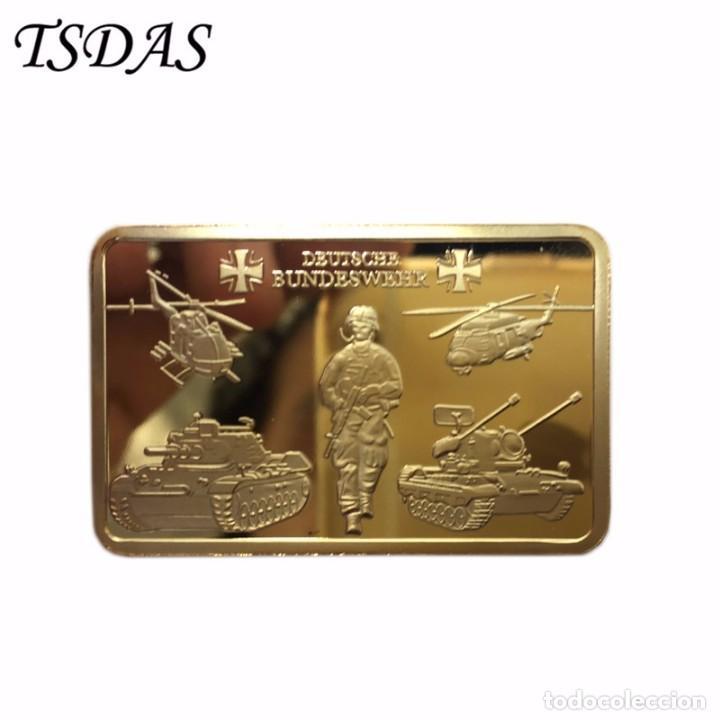 LINGOTE DE ORO 24KT FUERZAS ARMADAS ALEMANIA - CAIDOS - DIFICIL DE CONSEGUIR (1) (Numismática - Medallería - Trofeos y Conmemorativas)