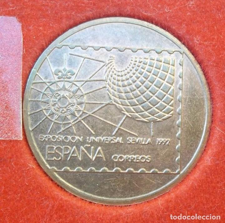 MEDALLA SEVILLA 1988 EXPO 92, RUMBO AL 92 COBRE SC EXPOSICIÓN UNIVERSAL (Numismática - Medallería - Trofeos y Conmemorativas)