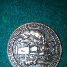 Trofeos y medallas: MEDALLA CENTENARIO FERROCARRIL EN ALCOY *LINEA ALCOY-GANDIA-PUERTO*. Lote 95671503