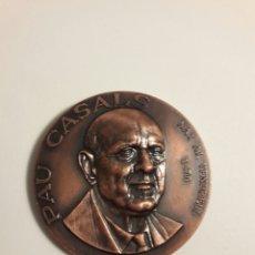Trofeos y medallas: MEDALLA CONMEMORATIVA PAU CASALS. Lote 95902976